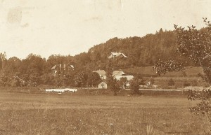 Ortsansicht mit Villa Oblasser 1888