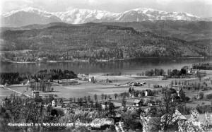 Ortsansicht süd mit Mittagskogel 1935