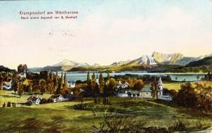 Ortsansicht südost Aquarell Manhart 1910