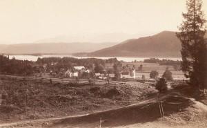 Ortsansicht südost mit Kirche 1885