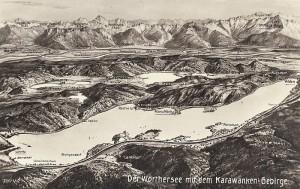 Panorama Wörthersee Karawanken 1930