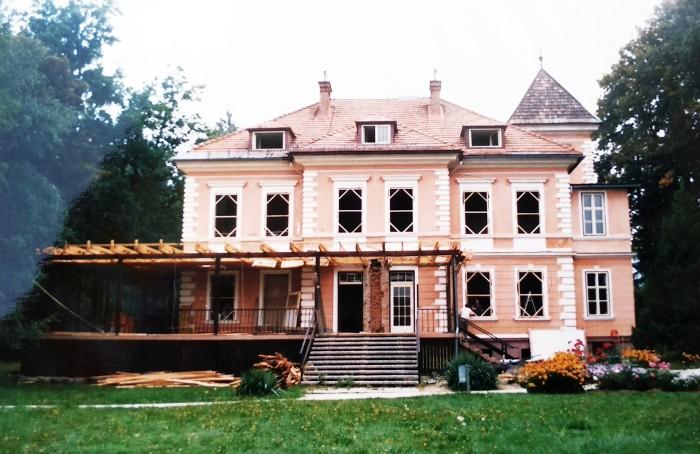 Die Terrasse wird abgetragen 1987