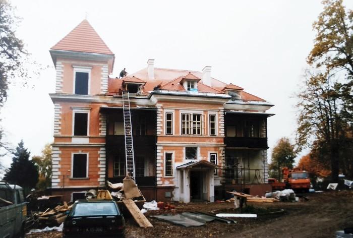 Renovierungsarbeiten Parkvilla 1987