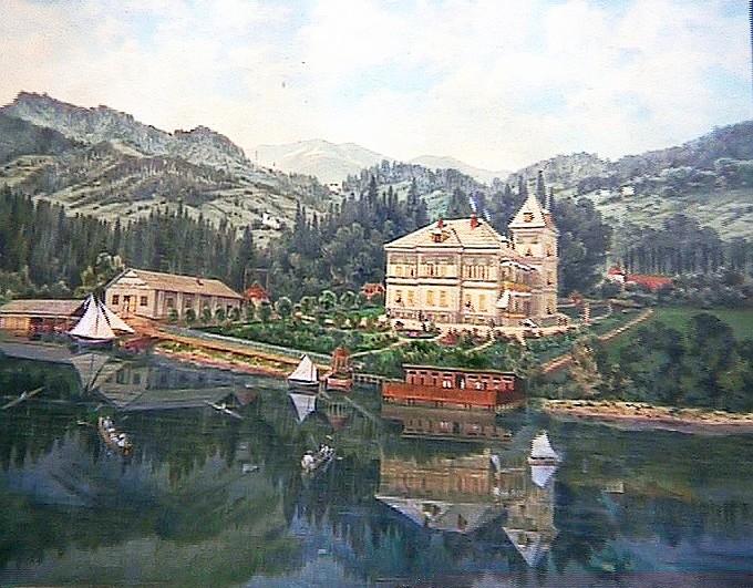 Aquarell der Scherrl-Villa um 1890