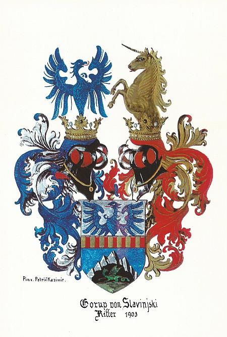 Wappen der Familie Gorup von Slavinjski 1903