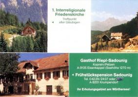 Pension Sadounig Krumpendorf, Friedenskirche Koprein/Petzen