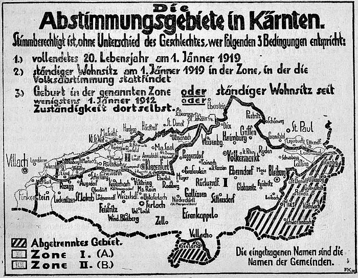 Abstimmungszonen 1920
