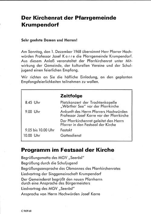 Festempfang Pfarrer Josef Karre in Krumpendorf