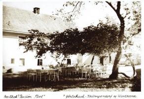 Gasthof Pisl in Görtschach, Sitzgarten