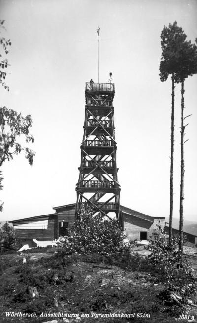 Holzturm am Pyramidenkogel 1950