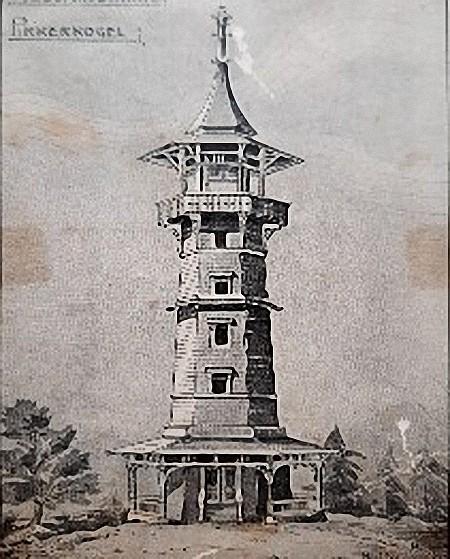 Entwurf des Holzturms am Pirkerkogel