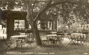 Pleschutznig Café und Jausenstation Sitzgarten 1928
