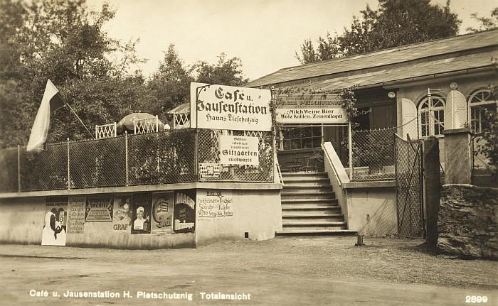 Café Dworsky Ansicht von Hauptstraße 1930er