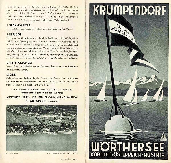 Prospekt Krumpendorf am Wörthersee 1937