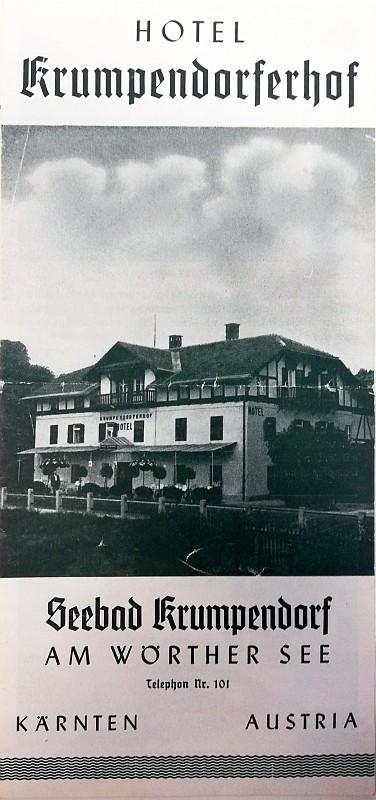 Prospekt Hotel Krumpendorferhof ca. 1955