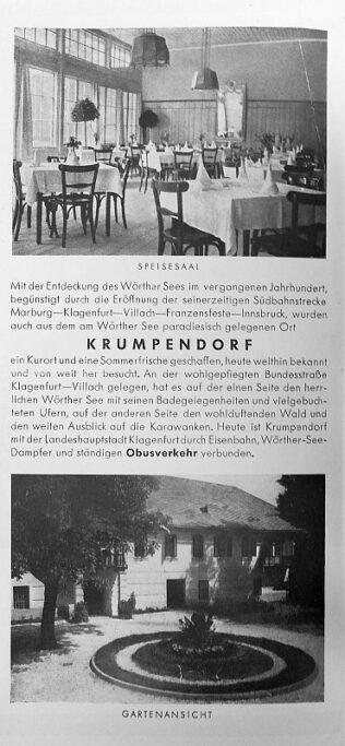 Prospekt Hotel Krumpendorferhof ca. 1955 2