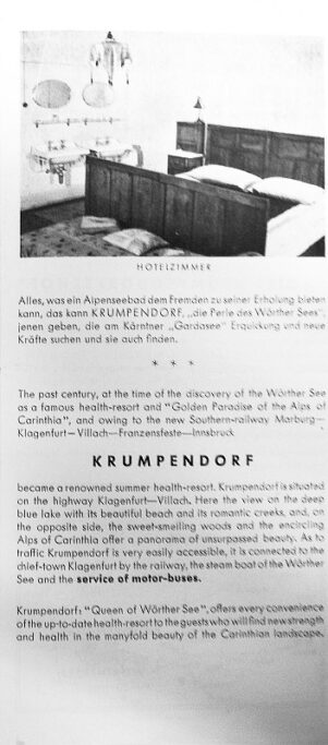 Prospekt Hotel Krumpendorferhof ca. 1955 3