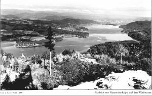 Blick vom Pyramidenkogel nach Krumpendorf 1953