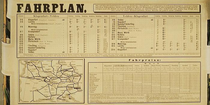 Fahrplan Wörtherseeschifffahrt 1891