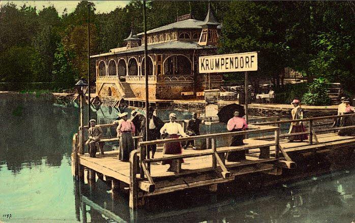 Schiffsanlegestelle Krumpendorf 1909
