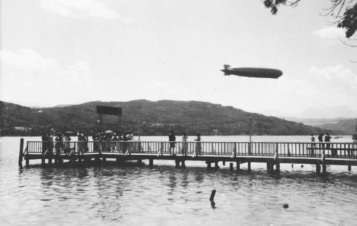 Zeppelin über Wörthersee 1931
