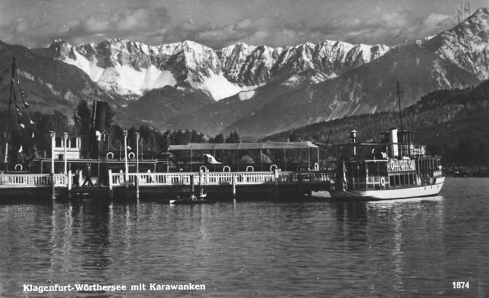 Schiffsanlegestelle Klagenfurt 1941