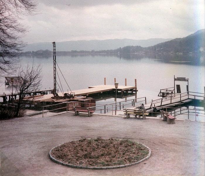 Neubau der Landungsbrücke 1983