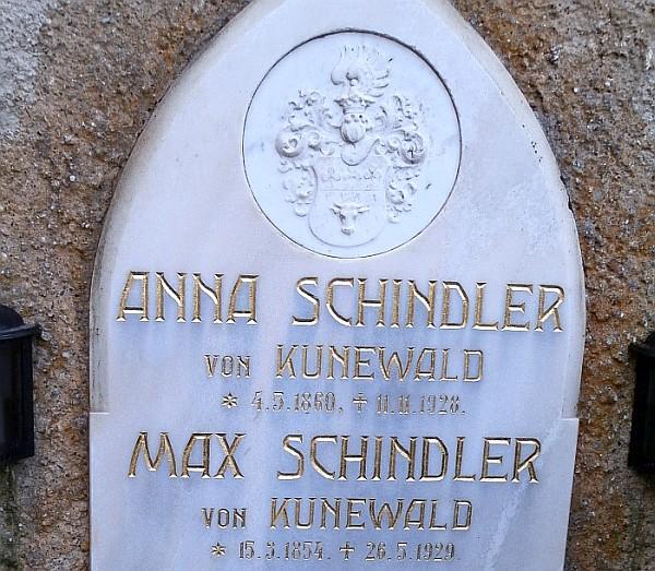 Grabstein Anna und Max Schindler von Kunewald