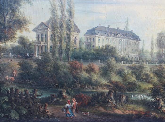 Schloss Kunewald (Ölbild, Ausschnitt)