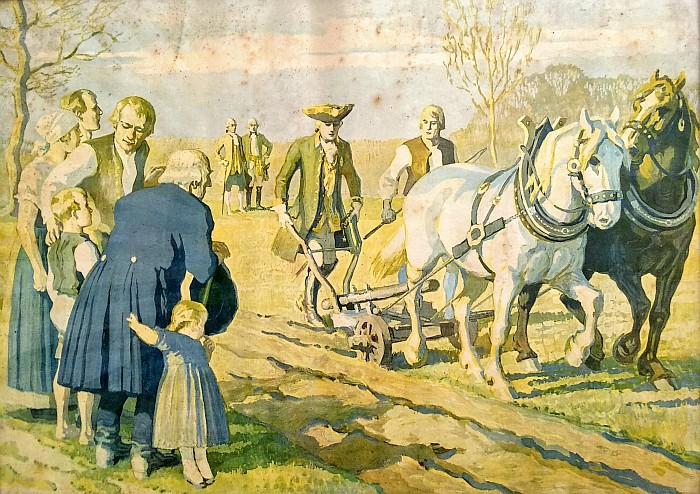 Kaiser Joseph II am Pflug