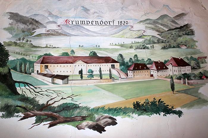 Wandbild Schloss Krumpendorf 1829
