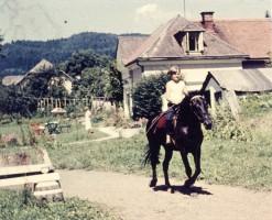 Reiten im Schlossgarten 1961