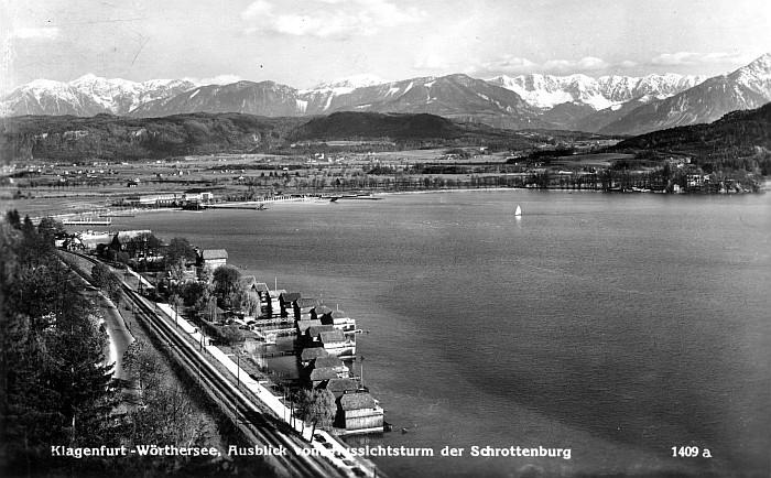Ausblick vom Aussichtsturm der Schrottenburg 1956