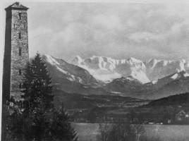 Schrotturm mit Karawanken 1929