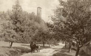 Schrotturm mit Hauptstraße 1914