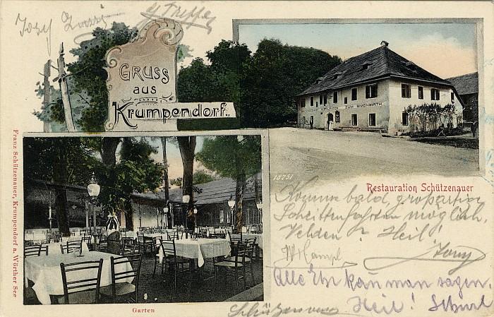 Restauration Schützenauer ca. 1905