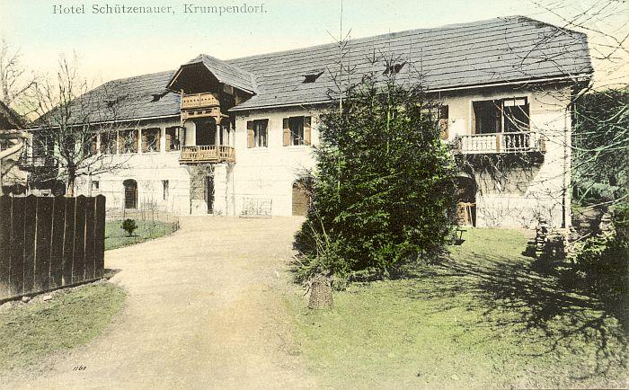 Hotel Schützenauer hinteres Gebäude 1909