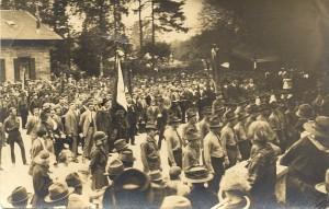 Schutzbundtreffen am Bahnhof Krumpendorf 1927