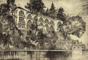 Pension Schwalbennest Zeichnung ca. 1938