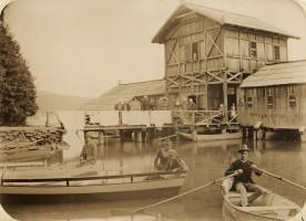 Badeanstalt/Schwimmschule Krumpendorf 1888