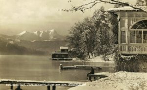 Terrassenhotel im Winter 1931