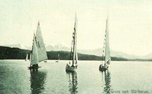 Segelboote am Wörthersee 1907