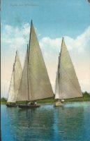 Segelboote am Wörthersee 1911
