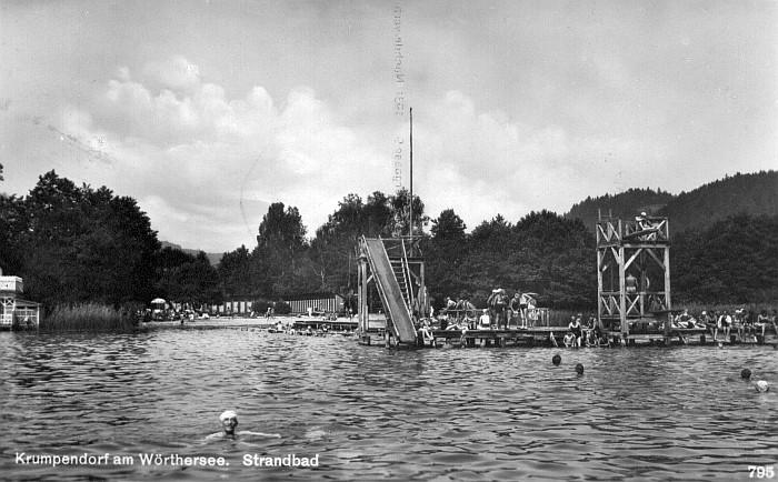 Terrassenhotelbad mit Sprungturm und Rutsche 1932