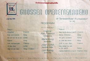 Terrassenhotel Operettenabend 1959