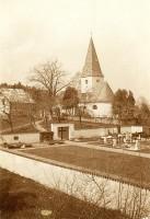 Ulrichskirche in Pirk mit Friedhof, Mai 1937