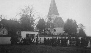 Ulrichskirche in Pirk mit Friedhof 1938