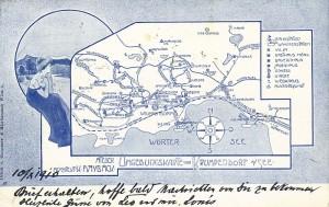 Umgebungskarte Krumpendorf Haybäck 1916