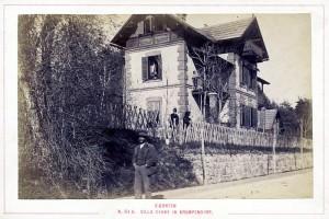 Villa Cerny an der Hauptstraße 1890er Jahre