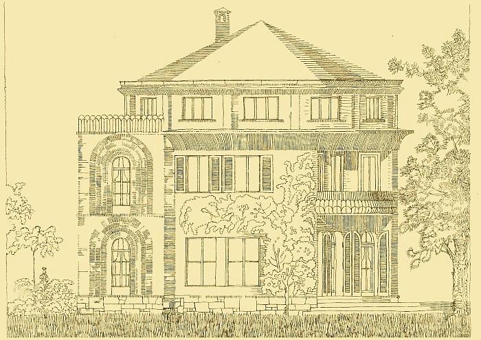 Villa Kerndle Tuschezeichnung